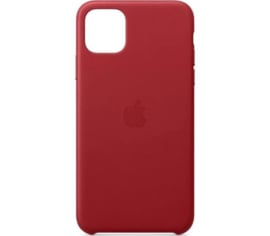 iPhone 11: Leather case (Red)