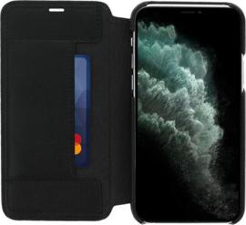 iPhone 11 Pro: MINIM  leather Bookcase  (Zwart)