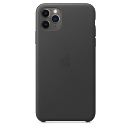 iPhone 11 pro Max: Leather case (black)
