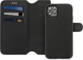 iPhone 11 Pro: MINIM 2 in 1 leather Bookcase wallet (Zwart)