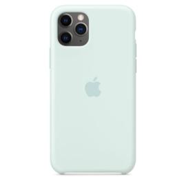 iPhone 11 Pro: Liquid silicone case (Seafoam)