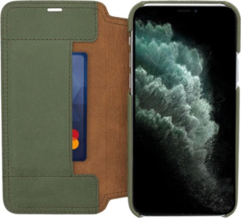 iPhone 12 Pro Max: MINIM  leather Bookcase  (Groen)