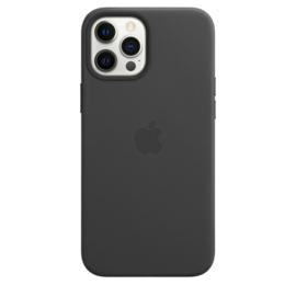 iPhone 12 pro Max: Leather case (black)