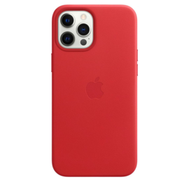 iPhone 12 Pro Max: leather case (Product)Red