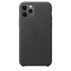 iPhone 11 Pro: leather case (zwart)