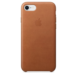 iPhone 7 / 8: Leather case (Zadelbruin)