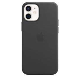 iPhone 12 Mini: Leather case (black)