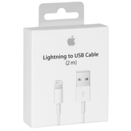 OEM 8 pin USB Lightning data kabel 2 meter voor iPhone / iPad