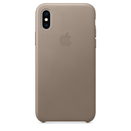 iPhone X / XS: Leather Case (taupe)