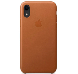 iPhone XR: Leather case (Zadelbruin)
