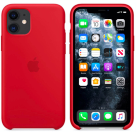 iPhone 11: Silicone case (Rood)