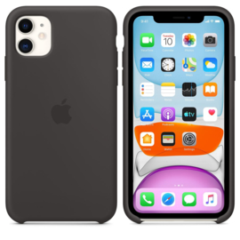 iPhone 11: Silicone case (zwart)