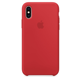 iPhone XS Max : Liquid Silicone case (Red)