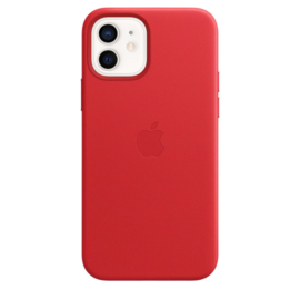iPhone 12 & 12 Pro: leather case (Product)Red