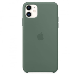 iPhone 11: Silicone case (Pijnboom groen)