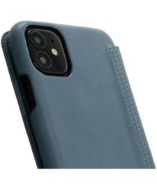 iPhone 12 mini: MINIM  leather Bookcase  (Blauw)