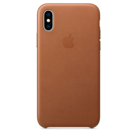 iPhone X / XS: Leather Case (Zadelbruin)