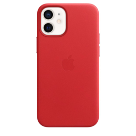 iPhone 12 Mini: Leather case (Product)Red
