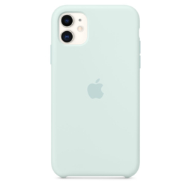 iPhone 11: Silicone case (Seafoam)