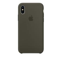 iPhone Xs Max: Liquid Silicone case (Olive)