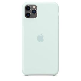 iPhone 11 Pro Max: Liquid Silicone case (Seafoam)