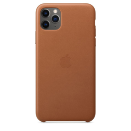 iPhone 11 pro Max: Leather case (Zadelbruin)