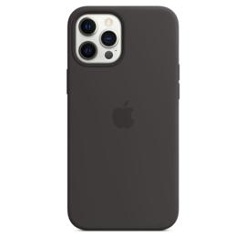 iPhone 12 Pro Max: Liquid Silicone case (Zwart)