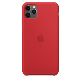 iPhone 11 Pro Max: Liquid Silicone case (Rood)