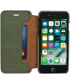 iPhone 7 / 8 / SE (2020): MINIM  leather Bookcase  (Groen)