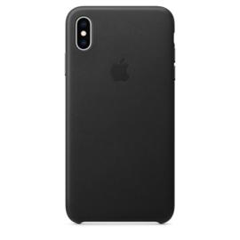 iPhone XS Max: Leather case (zwart)