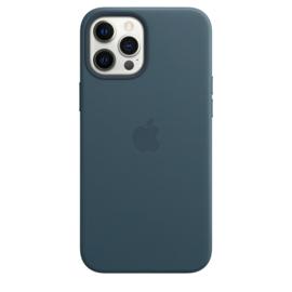 iPhone 12 Pro Max: leather case Baltisch blauw