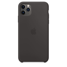 iPhone 11 Pro Max: Liquid Silicone case (zwart)