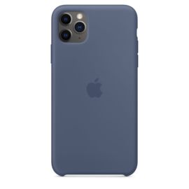 iPhone 11 Pro Max: Liquid Silicone case (Alaskan Blue)