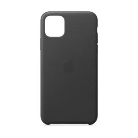 iPhone 11: Leather case (black)