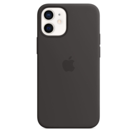 iPhone 12 mini: Liquid Silicone case (zwart)