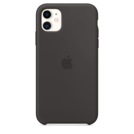iPhone 11: Silicone case (zwart)