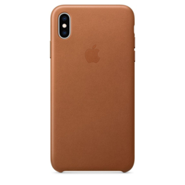iPhone XS Max: Leather case (Zadelbruin)