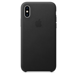 iPhone X / XS: Leather Case (Zwart)