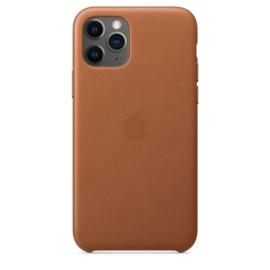 iPhone 11 Pro: leather case (Zadelbruin)