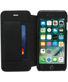 iPhone 7 / 8 / SE (2020): MINIM  leather Bookcase  (Zwart)