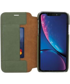 iPhone X / Xs: MINIM  leather Bookcase  (Groen)