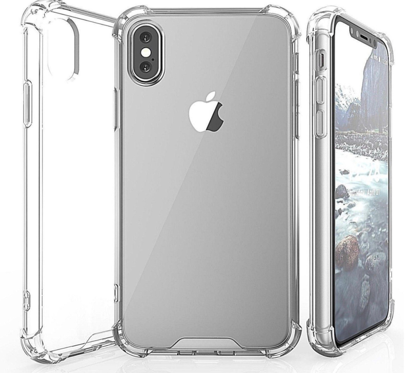 iPhone 10 (X / XS) Silicone clear softcase met verstevigde bumper rand