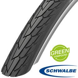 28x1 5/8x1 3/8 Road Cruiser Green Compound zwart RS 11101305 Schwalbe