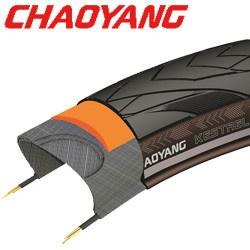 28x1 5/8x1 3/8 Kestrel zwart RS met 5 mm anti-lek Chaoyang