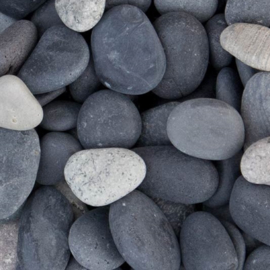 Beach Pebbles zwart grind 16-25mm