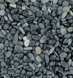 Beach Pebbles zwart grind 5-8mm