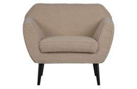 340454-TS   Rocco fauteuil fluweel - teddy sand   WOOOD
