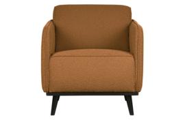 378670-U | Statement fauteuil met arm bouclé butter | BePureHome