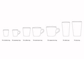 ACE6973 | Ceramic 70's ristretto mugs (set of 4) | HKliving