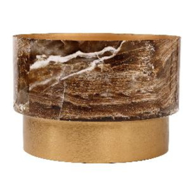 705846 | Imre pot S brown marble print | PTMD